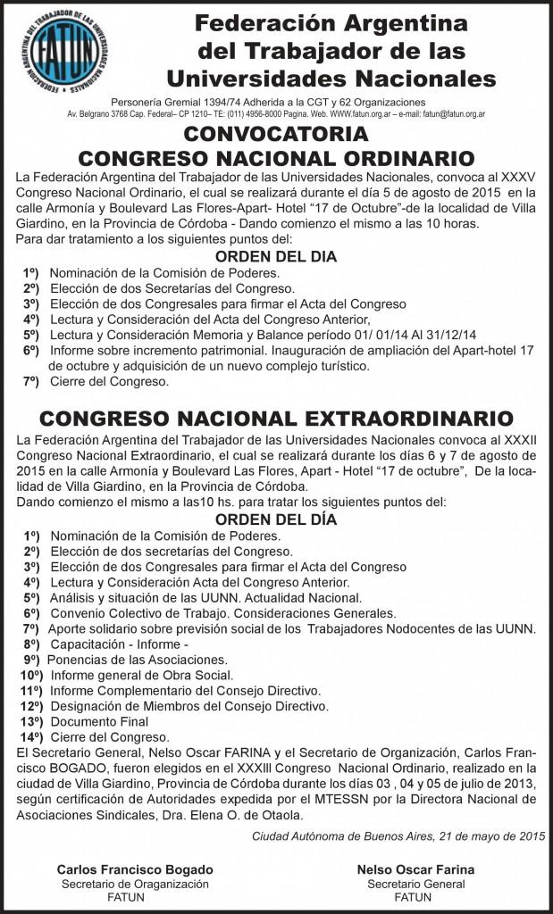Congreso Nacional FATUN 2015
