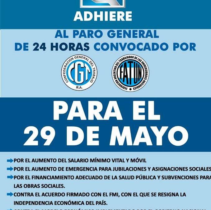 El 29 de Mayo, PARAMOS todos los Nodocentes de las Universidades Nacionales.