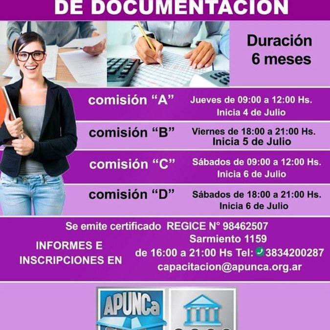ULTIMOS DÍAS DE INSCRIPCIÓN, CURSO DE «PRECEPTOR Y ARCHIVO DE DOCUMENTACION».