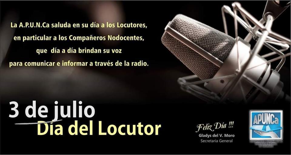 FELIZ DIA DEL LOCUTOR, A TODOS LOS COMPAÑEROS Y AMIGOS !!!!!