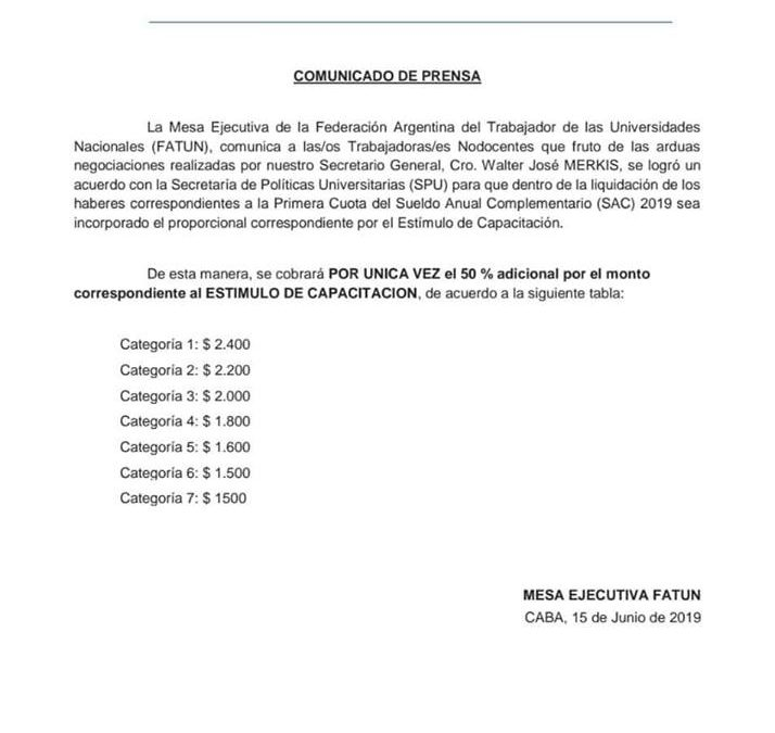IMPORTANTE PARA CONTROL DEL RECIBO DE AGUINALDO.