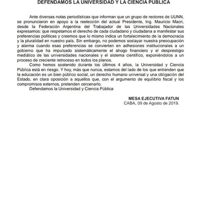 POR UNA UNIVERSIDAD GRATUITA, PLURALISTA, DEMOCRATICA Y COGOBERNADA.