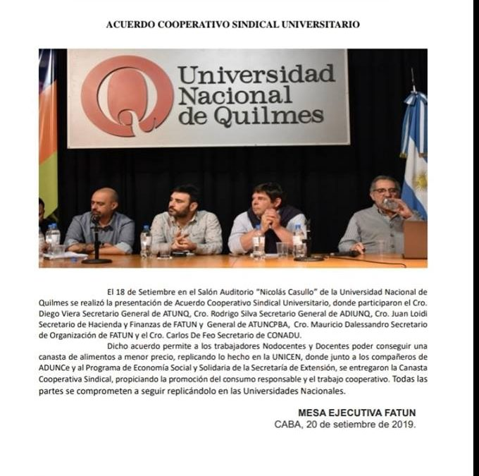 Acuerdo Cooperativo Sindical Universitario