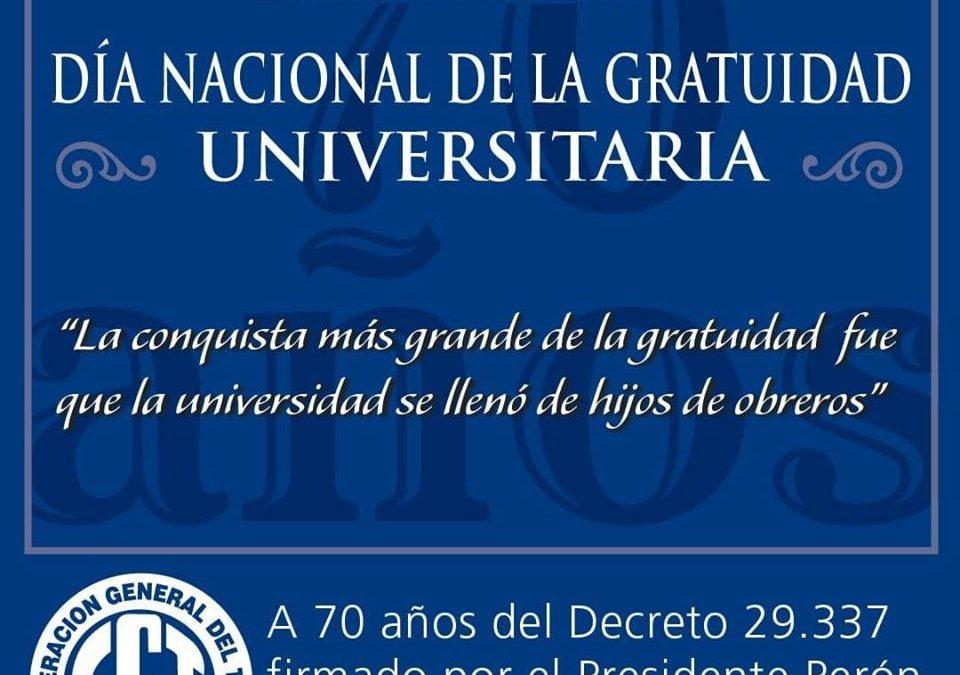 DIA NACIONAL DE LA GRATUIDAD UNIVERSITARIA