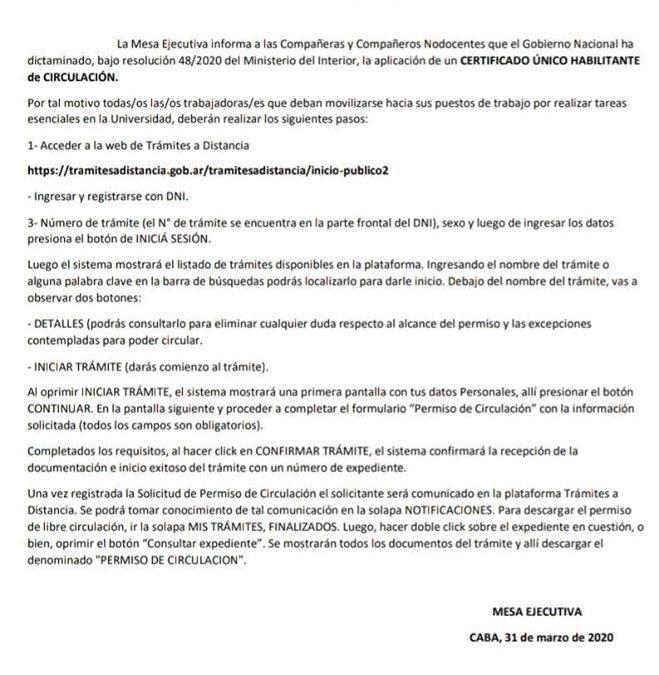 INFORMACION MESA EJECUTIVA DE LA FATUN