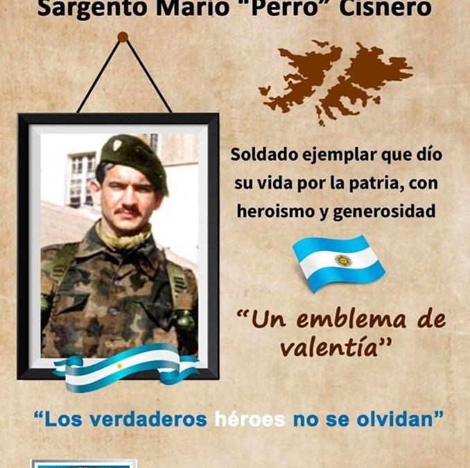 HOMENAJE AL HÉROE CATAMARQUEÑO, SARGENTO MARIO CISNERO, QUIEN DIÓ SU VIDA POR LA PATRIA.