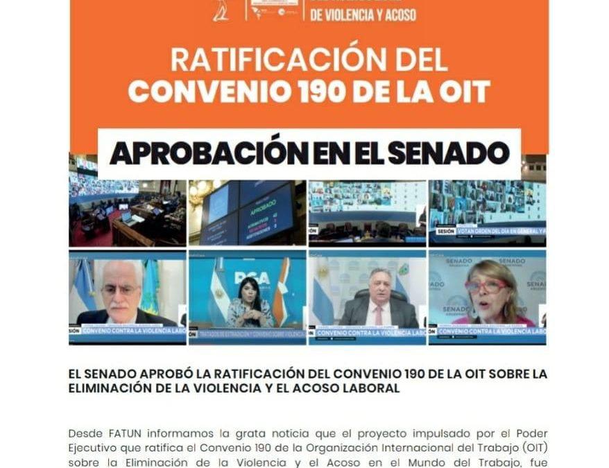 CONVENIO 190 OIT ELIMINACION DE LA VIOLENCIA Y ACOSO EN EL MUNDO LABORAL