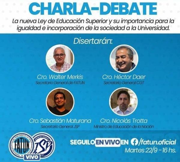 APUNCa, invita a participar en la Charla – Debate: «LA NUEVA LEY DE EDUCACIÓN SUPERIOR Y SU IMPORTANCIA PARA LA IGUALDAD E INCORPORACIÓN DE LA SOCIEDAD A LA UNIVERSIDAD»