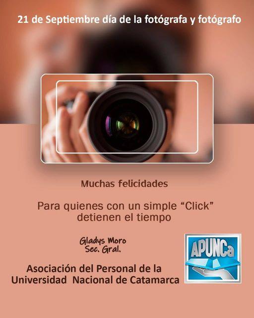 FELIZ DÍA DEL FOTÓGRAFO Y DE LA FOTÓGRAFA !!!