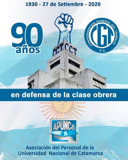 1930 – 2020                                  A 90 años de la fundación de la CGT R.A.