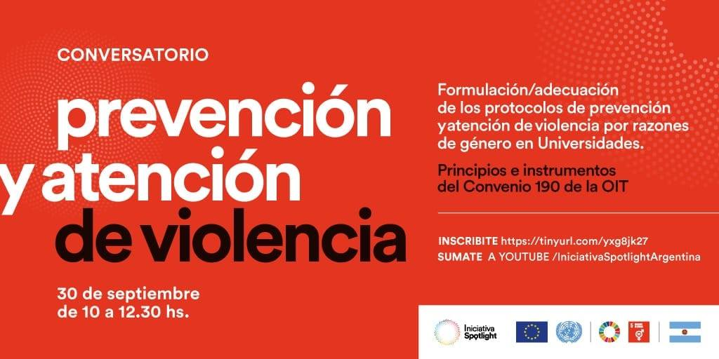 APUNCa invita a participar en el conversatorio: PREVENCIÓN Y ATENCIÓN DE VIOLENCIA.