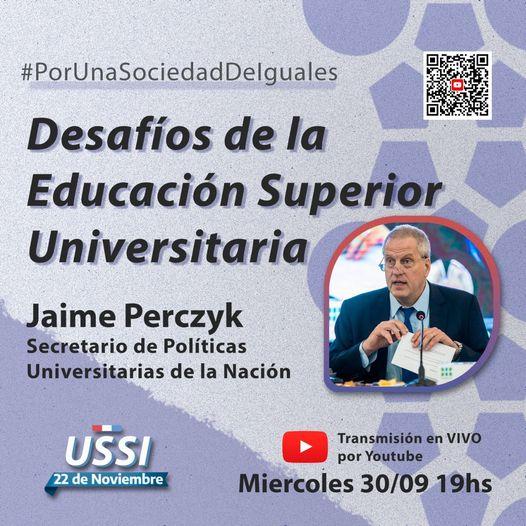 Invitamos a participar en la charla: Desafíos de la Educación Superior Universitaria.