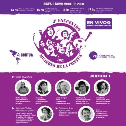 3er ENCUENTRO DE MUJERES DE LA CONTUA Estás invitada a participar el lunes 2 de noviembre a las 17:00 hs.