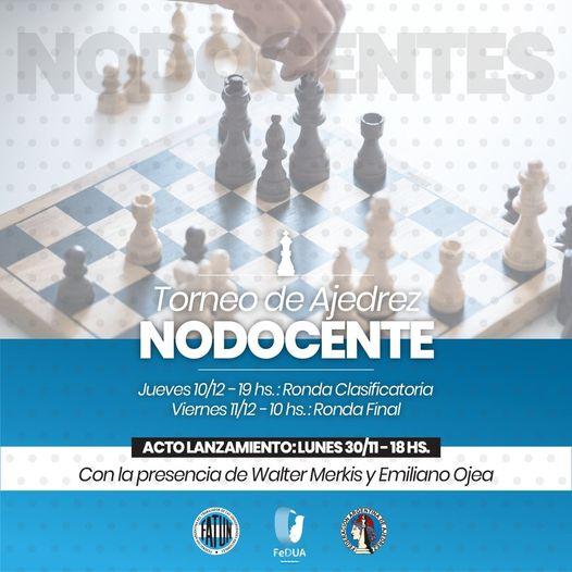 Te invitamos a participar en el torneo de AJEDREZ, organizado por la FATUN.   TE ESPERAMOS!!!!
