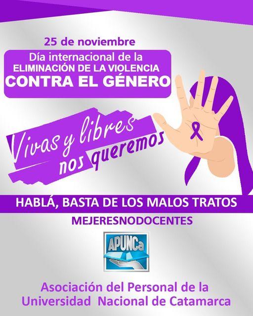25 de Noviembre –               DIA INTERNACIONAL DE LA ELIMINACIÓN DE LA VIOLENCIA CONTRA EL GÉNERO