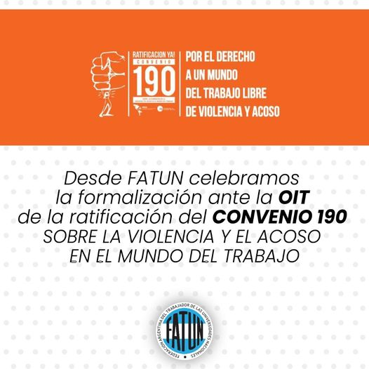 Ratificación del Convenio 190