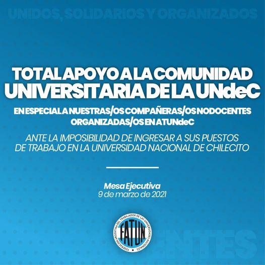 Total apoyo a la comunidad Universitaria de la UNdeC