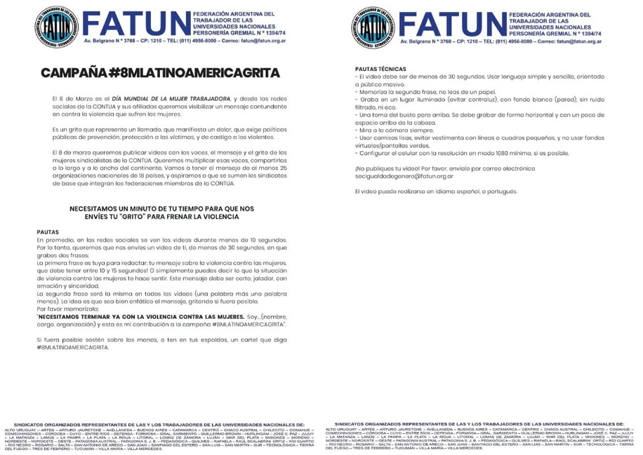 8M Latinoamérica Grita