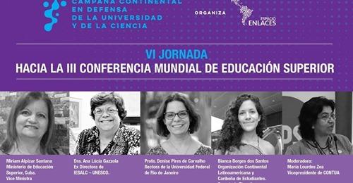 Excelente Conferencia Mundial sobre Educación Superior.